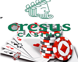 machines a sous + poker  + logo cresus casino