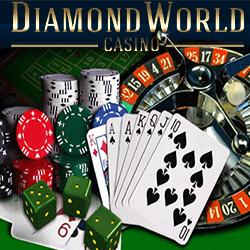 machines à sous + billets $ + logo diamond world