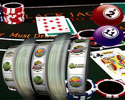 machines a sous + blackjack + loterie